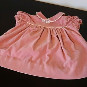 Polly Flinders Pink Baby Dress, size 12 months